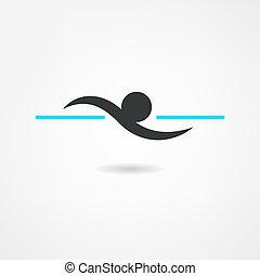 nadador, ícone