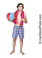 nadador, posar