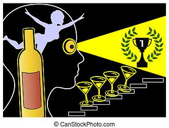 nadużycie alkoholu, i, grandiosity
