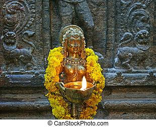 nadu, hindú, dentro, madurai, tradicional, religión, india.,...