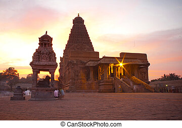 nadu, uno, sites., thanjavur, brihadeeswarar, india.,...