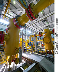 NADYM - JUNE 8. The high pressure equipment.
