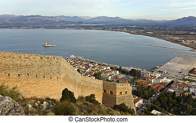 Nafplio city at Peloponnese, south Greece