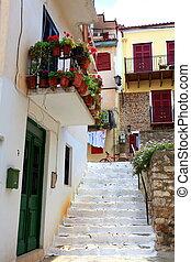 street to homes nafplio greece