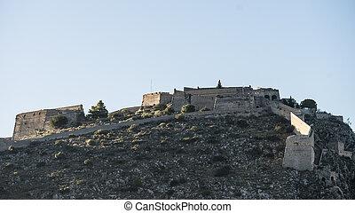 Nafplio Palamidi fortress in Peloponnese peninsula Greece.