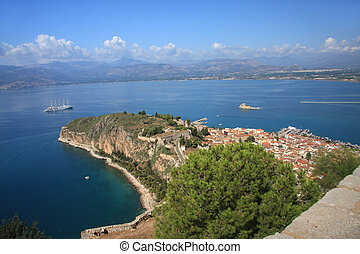 Nafplion - city in the Peloponnese. Capital Nome Argolida and the first capital of Greece in 1828-1833, respectively.