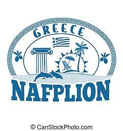 Nafplion, Greece stamp or label