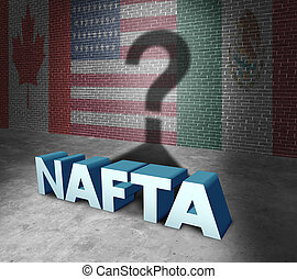 NAFTA Concept - NAFTA or the north american free trade...