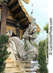 Naga figure in Chiang Mai, Thailand