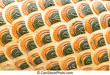 Naga scale pattern,texture background