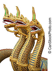 naga statue isolated on a white background