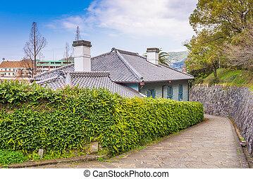 Nagasaki, Japan at historic Dutch Slope