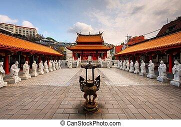 Confucius Shrine - Nagasaki, Japan - December 9, 2012:...
