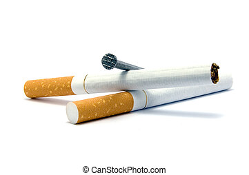 nagel, zigaretten, zwei, sarg