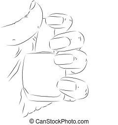 nagellak, hand