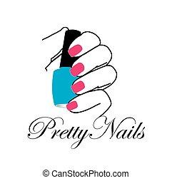 nagellak, spijkers, mooi