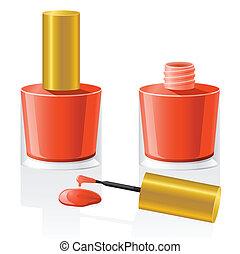 nagellak, vector, illustratie