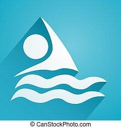 nager, icône