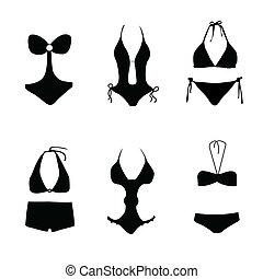 nager, maillot bain, bikini