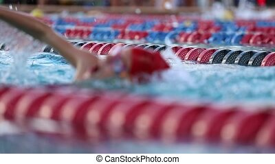 nager, pratique, piscine