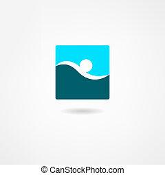 nageur, icône