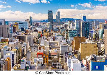 Nagoya, Japan Aerial Cityscape