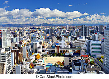 Nagoya, Japan cityscape in the day.