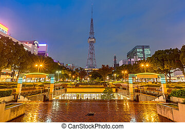 Nagoya TV Tower Japan - Japan city skyline with Nagoya TV...