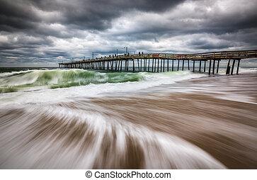 Nags Head Beach Outer Banks Coastal North Carolina Ocean Scenic Seascape Photography