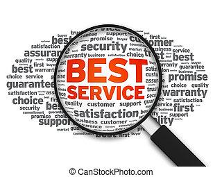 nagyító, -, legjobb, szolgáltatás