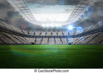 nagy, állati tüdő, labdarúgás, stadion