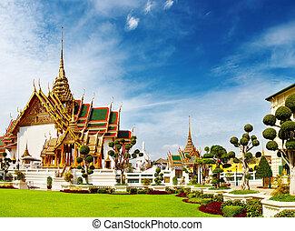 nagy, bangkok, thaiföld, palota
