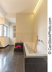 nagy, fürdőszoba, modern, fürdőkád