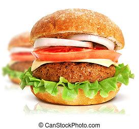 nagy, hamburger