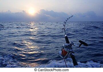 nagy, játék, saltwater, halászat, horgász, csónakázik