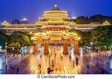 nagy, kína, előszoba, chongqing