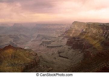 nagy kanyon, napnyugta