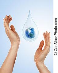nagy, letesz víz
