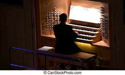 nagy, orgánum, zene
