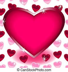 nagy, szív, felett, seamless, szív alakzat, motívum