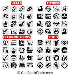 nagy, szövedék icons, állhatatos
