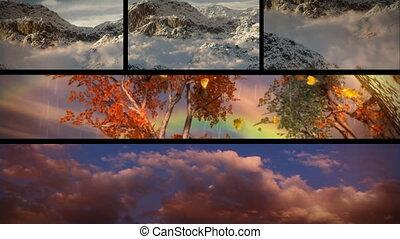 nagy, természet, forrás, utazás, téma, kaland, időjárás,...