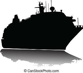 nagy, utas hajó