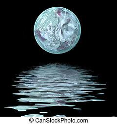 nagy, víz, hold