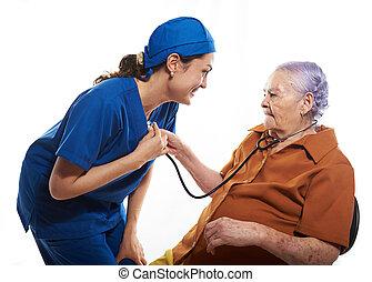 nagyanyó, health ellenőriz, orvosok