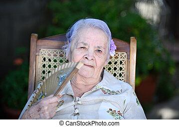 nagyanyó, rajongó, kéz