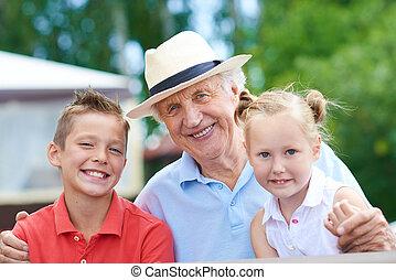 nagyapó, gyerekek