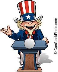 nagybácsi, pódium, nyílik, légvédelmi rakéta, elnöki