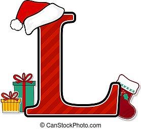 nagybetű, karácsony, l