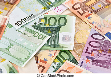 nagyon, közül, euro, banknotes., háttér